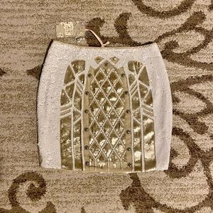 New Chelsea & Violet Sequined Gold and beige Skirt